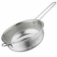 BasicForm Micro-Perforated Colander with Long Handle and Base Stainless Steel
