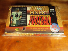1996 Topps Finest EMPTY BOX w 134 Troy Aikman STERLING Blank Back Showing On TOP