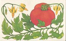 VINTAGE VINTAGE RED TOMATO PLANT BAKED TOMATOES RECIPE PRINT 1 TEA POT EGGS CARD