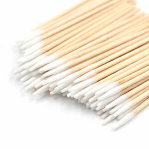 Tattoo Stick Swabs Pointed Q-tip Buds Cleaning Cotton Makeup Cosmetic Supply