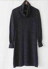 Hugo Boss sweater Dress Dark Purple Turtle Neck Long Sleeve Tunic Size L