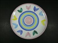 "Caleca Melisso Dinner Plate Italian Art Pottery Pastel 11 1/8""  - Italy"