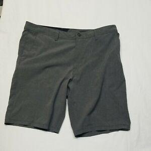 Volcom 40 x 11 Gray Frickin Static Short Surf & Turf 4 Way Stretch Hybrid Shorts