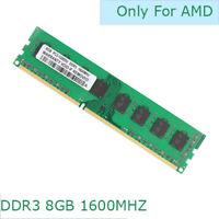 8GB 16GB 32GB DDR3 1600MHz PC3-12800 For Desktop AMD Memory Non-ECC RAM CL9 1.5V