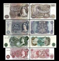 2x 10 Shillings,1,5,10 Pounds - Ausgabe ND 1960 - 1977 - Reproduktion - 03
