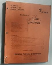 Kimball Model F22 Super Continental Organ Service Repair Manual Schematics Parts