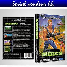 "BOX, CASE ""MERCS"". MEGADRIVE. BOX + COVER PRINTED. NO GAME. MULTILINGUAL."