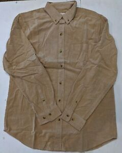Territory Ahead Men's Long Sleeve Khaki Corduroy Button Down Shirt NEW Large