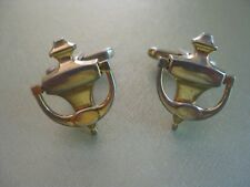 Signed Hickok USA Gold Tone Articulated Door Knocker Vintage Novelty Cuff Links