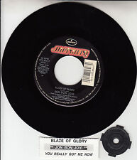"JON BON JOVI  Blaze Of Glory 7"" 45 rpm record NEW + juke box title strip RARE!"