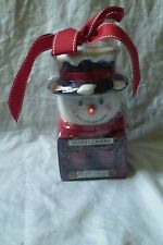 Yankee Candle Red Apple Wreath Gift Set Tea Light Snowman Votive Holder