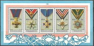 Südafrika - Nationale Orden Block 26 postfrisch 1990 Mi. 808-812