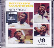 """Muddy Waters - Folk Singer"" Audiophile Stereo Hybrid SACD Germany CD New Sealed"