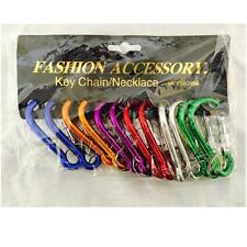 "12 Carabiners Aluminum Alloy D Screw Lock Carabiner Clip Hook Key Chain - 2 3/4"""