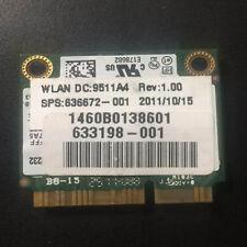 HP Intel Centrino Advanced-N 6230 62230ANHMW WiFi mini pcie half Card 636672-001