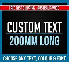 CUSTOM STICKER Decal - 200mm Long - Choose Your Text & Font -Vinyl Decal JDM CAR