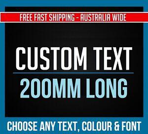 CUSTOM STICKER Vinyl Decal 200mm Long Text Font Name Lettering Business Shop
