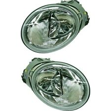 Headlight Set For 2002 2003 2004 Volkswagen Beetle Left And Right With Bulb 2pc Fits 2004 Volkswagen Beetle