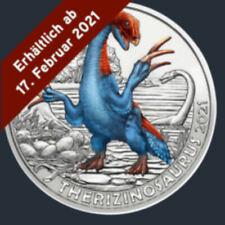 3 Euro Therizinosaurs  - Super Saurier - Tiertaler Nachfolgeserie Münze Österr.