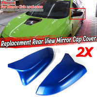Blue Rearview Side Wing Mirror Cover Casing Cap For Honda Civic 2016-2020