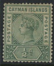 CAYMAN ISLANDS, MINT, #1, OG HR, 4 MARGINS