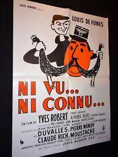 louis de funes NI VU NI CONNU !  affiche cinema