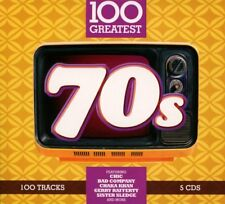 100 GREATEST 70S SOFTPAK (Deep Purple, Alice Cooper,  ZZ Top, MUD) 5 CD NEUF