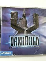 "VINTAGE 1997 ACTIVISION COMPUTER GAME-""DARK REIGN"" THE FUTURE OF WAR WITH MANUAL"
