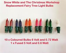 Christmas Fairy Light Push in Spare Replacement Bulbs 6v 0.72w (10 Colour 1 Fuse