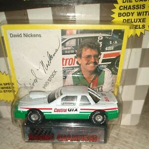 "1989 DAVID NICKENS ""CASTROL GTX"" NHRA PRO STOCK CAR, RACING CHAMPIONS,Series1,"