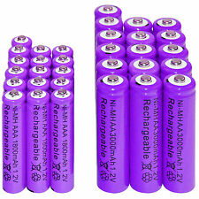 16 AA 3000mAh + 16 AAA 1800mAh Ni-Mh Rechargeable Battery Cell for MP3 RC Toy