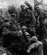 "German Soldiers & Italian POW's Battle of Caporetto 1917 World War 1 5x4"" Repro"