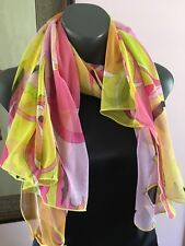 Pucci Knit Scarf Pink, Yellow Muliprint Large