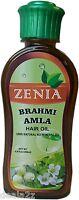 200ml Zenia Brahmi Amla Hair Oil 100% Natural No Mineral Oil hair fall control