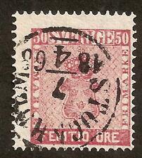 Suède: Yvert N° 11 (1858-70) perf 14 used,very fine, cat val 125€