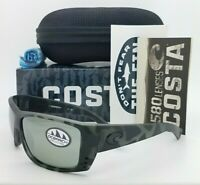 NEW Costa Cat Cay Ocearch Sunglasses Tiger Shark Grey Silver Mir 580G AUTHENTIC