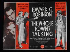 THE WHOLE TOWN'S TALKING 1935 * EDWARD G. ROBINSON * JEAN ARTHUR * JOHN FORD!!