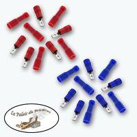 Cosses électriques à sertir mâle/femelle - 2.8 mm  - 14/16 - 18/22 AWG
