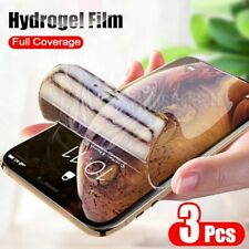 3pcs Screen Protector Hydrogel Film For iPhone 11 pro x xs 7 8 Plus 6 6s SE 2020