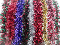 2M Luxury Chunky Thick Xmas Tinsel Garland Tree Home Christmas Party Decorations