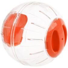 Hamster Exercise Ball Gerbil Play Toy Clear Orange 12cm K9Q2 EL