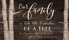 Our Family Tree Dark Distressed Solid Pine Wood Pallet Wall Plaque Sign