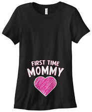 Threadrock Women's First Time Mommy T-shirt gift expecting mom