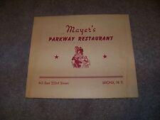 1949 MAYER'S Parkway Restaurant 613 East 233rd Street BRONX New York AMBROSINI