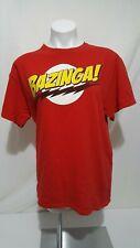 Bazinga! T-SHIRT Size L RED Big Bang Theory Sheldon Cooper Cotton