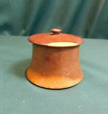 Vintage Turned Wooden Pot with Lid