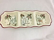BETTER HOMES AND GARDENS Heritage Winter Forest Divided Relish Server Tray