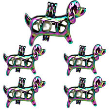 5X-C583 COLORS Pearl Cage Pet Puppy Floating Locket Dog Pendant 5pcs