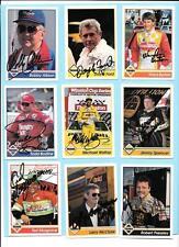 1992 Traks Autograph Nascar Lot(19)Allison, Burton, Waltrip, Bodine