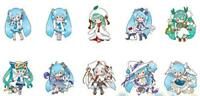 Hatsune Miku acrylic key chain mascot SNOW MIKU 2010-2019 10 set JAPAN 2019
